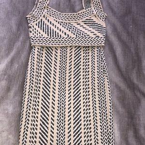 BCBG Maxazria Matching Pattern Skirt and  top set